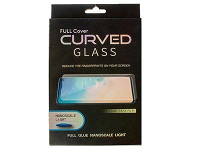 گلس UV تمام صفحه سامسونگ Note 10 به همراه لامپ و چسب