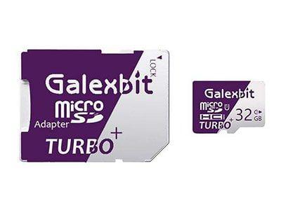 کارت حافظه microSDHC گلکسبیت مدل Turbo+ کلاس 10 استاندارد UHS-I U1 سرعت 80MBps ظرفیت 32 گیگابایت به همراه آداپتور SD