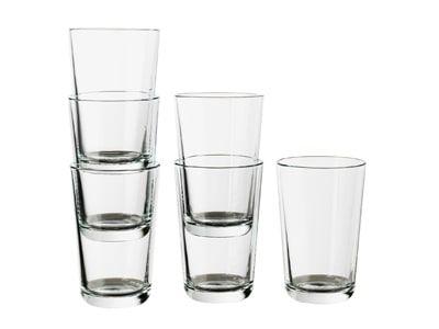 لیوان شیشه ای ایکیا (300 میلی لیتر) مدل +IKEA 365 بسته 6 عددی