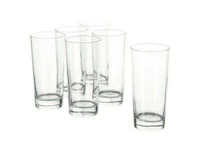 لیوان شیشه ای ایکیا (400 میلی لیتر) مدل GODIS بسته 6 عددی