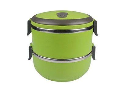 ظرف غذای دو طبقه Lunch box حجم 1.4 لیتری
