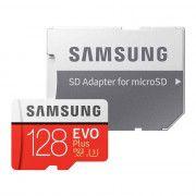 کارت حافظه microSDXC سامسونگ مدل Evo Plus کلاس 10 استاندارد UHS-I U3 سرعت 100MBps همراه با آداپتور SD ظرفیت 128 گیگابایت