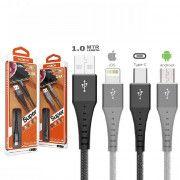 کابل شارژ و دیتای اندروید Micro USB موکسوم مدل  CC-72
