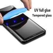 گلس UV تمام صفحه سامسونگ S10 به همراه لامپ و چسب