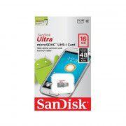 کارت حافظه microSDHC سن دیسک مدل Ultra کلاس 10 استاندارد UHS-I U1 سرعت 48MBps 320X ظرفیت 16 گیگابایت