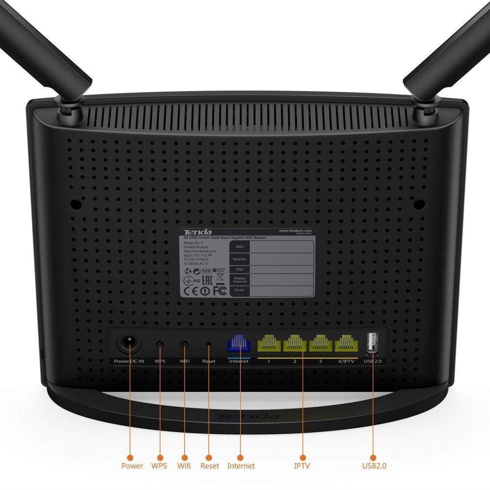 روتر بی سیم دو باند AC1200 تندا مدل AC9