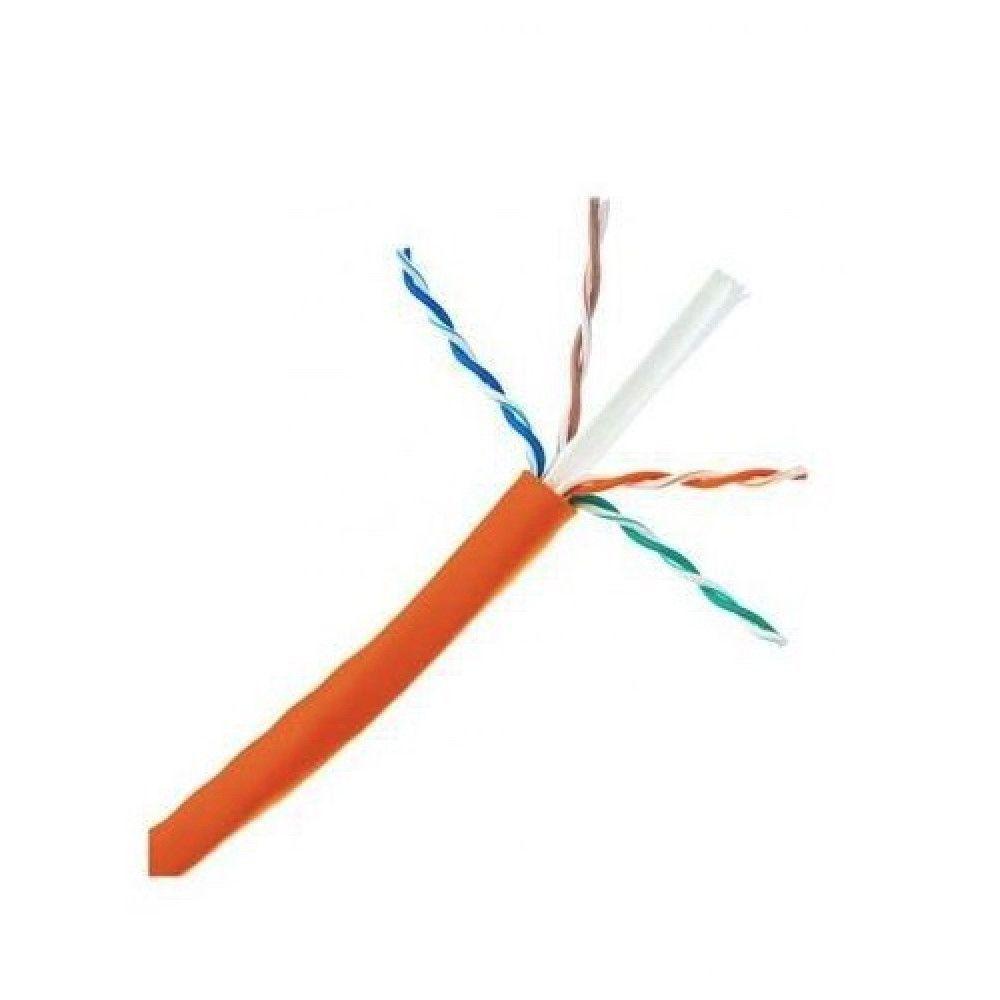 کابل شبکه 305 متری CAT6 UTP بدون شیلد دی-لینک مدل NCB-C6UORGR-305