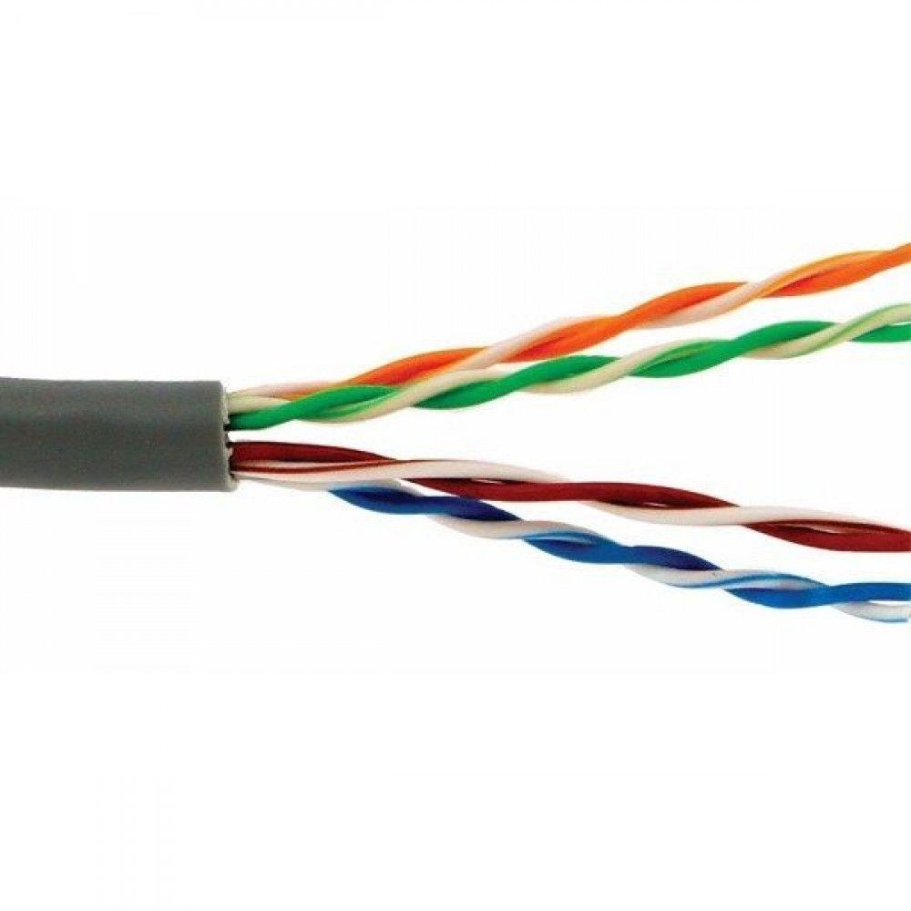 کابل شبکه 305 متری CAT6 UTP بدون شیلد با روکش ضد حریق دی-لینک مدل NCB-C6UGRYR-305-LS