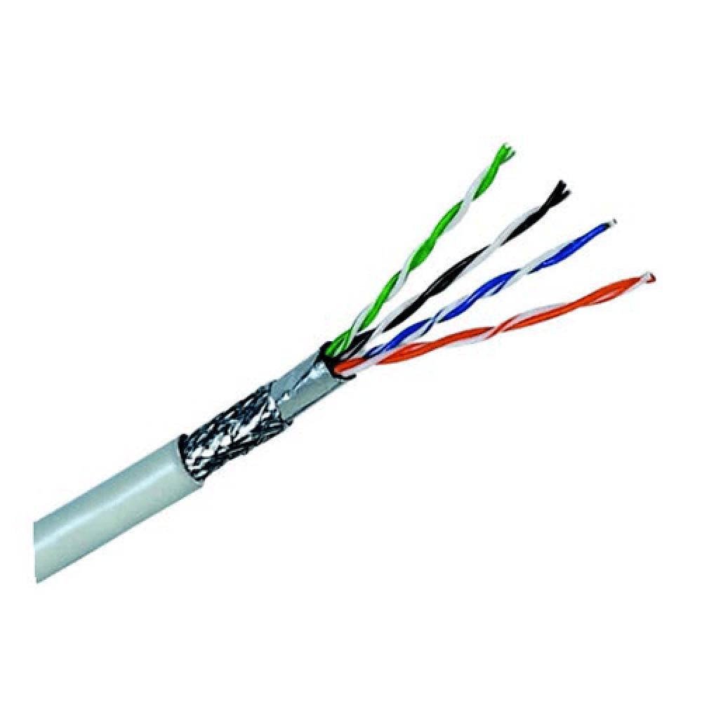 کابل شبکه 305 متری Cat5E SFTP دارای شیلد و فویل دی لینک مدل NCB-5ESFGRR-305