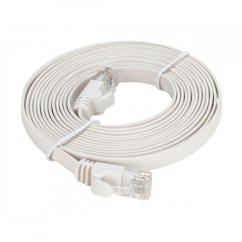 پچ کورد فلت 10 متری دی لینک D-Link NCB-C6UWHIF1-10 UTP CAT6 Flat Patch Cord