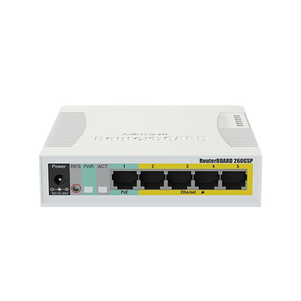 سوییچ 5 پورت مدیریتی میکروتیک مدل RB260GSP