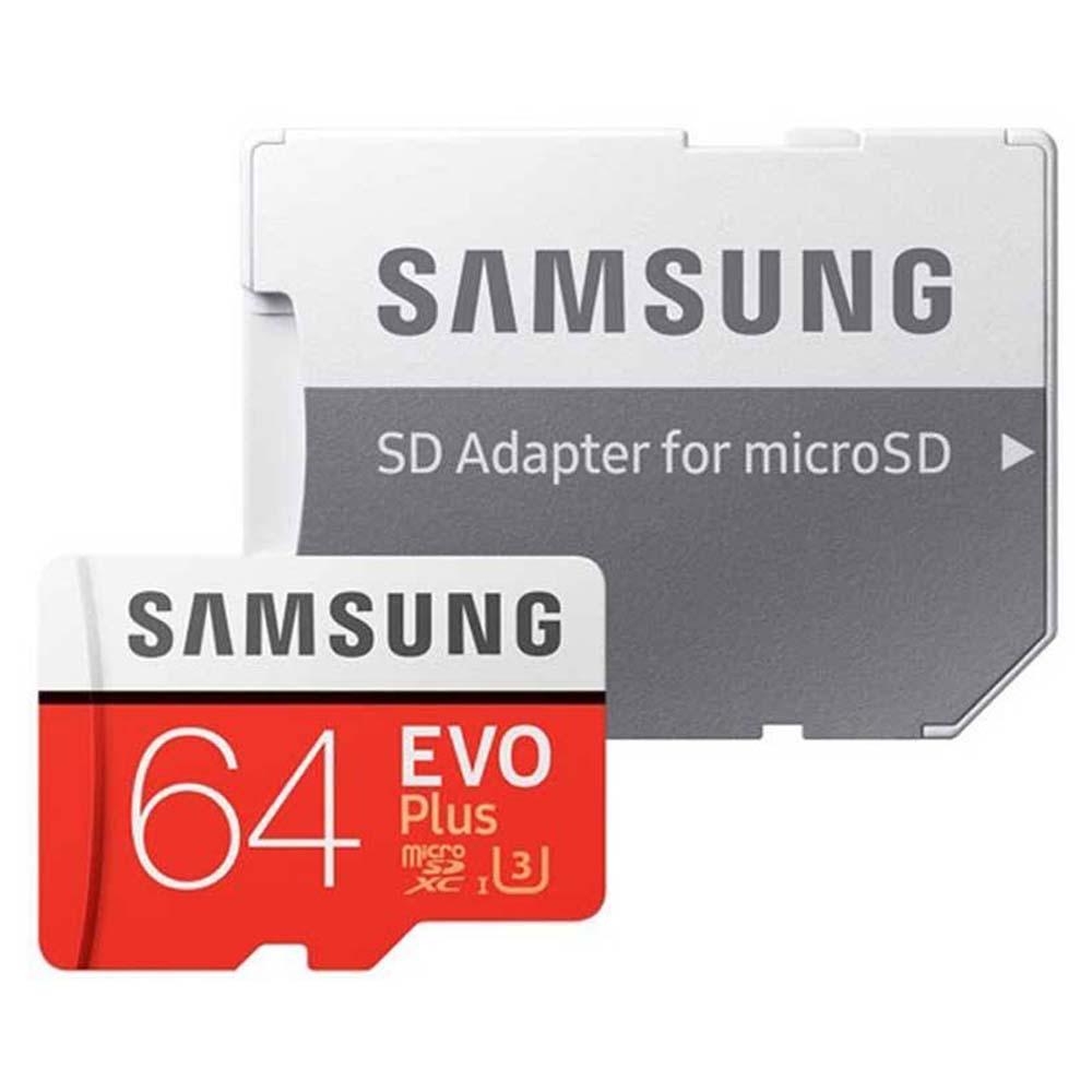 کارت حافظه microSDXC سامسونگ مدل Evo Plus  کلاس 10 استاندارد  UHS-I U3 سرعت 100MBps همراه با آداپتور SD ظرفیت 64 گیگابایت