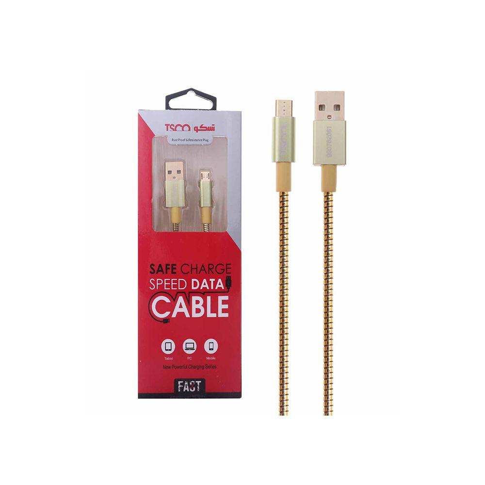 کابل شارژ و دیتا اندروید 1 متری  USB تسکو مدل TC 62