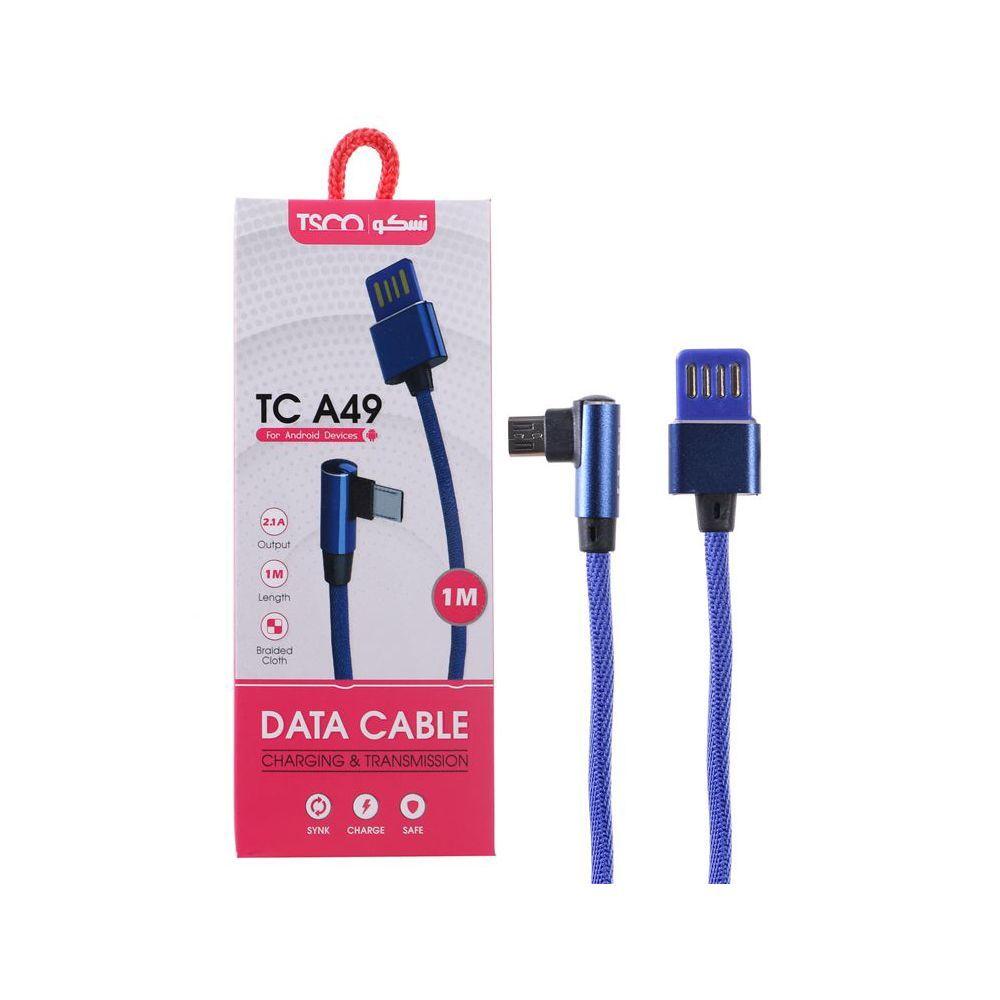 کابل شارژ و دیتا اندروید 1 متری  USB  تسکو  مدل TC A49