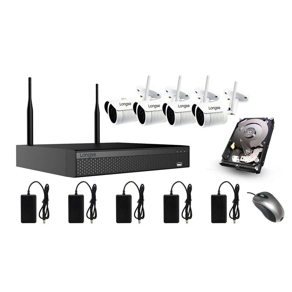 سیستم امنیتی بیسیم لانگسی مدل WIFI3604DE4SF200