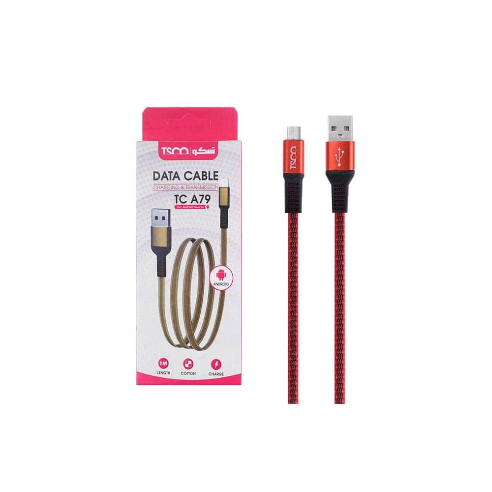 کابل شارژ و دیتا اندروید 1 متری  USB تسکو مدل TC A79