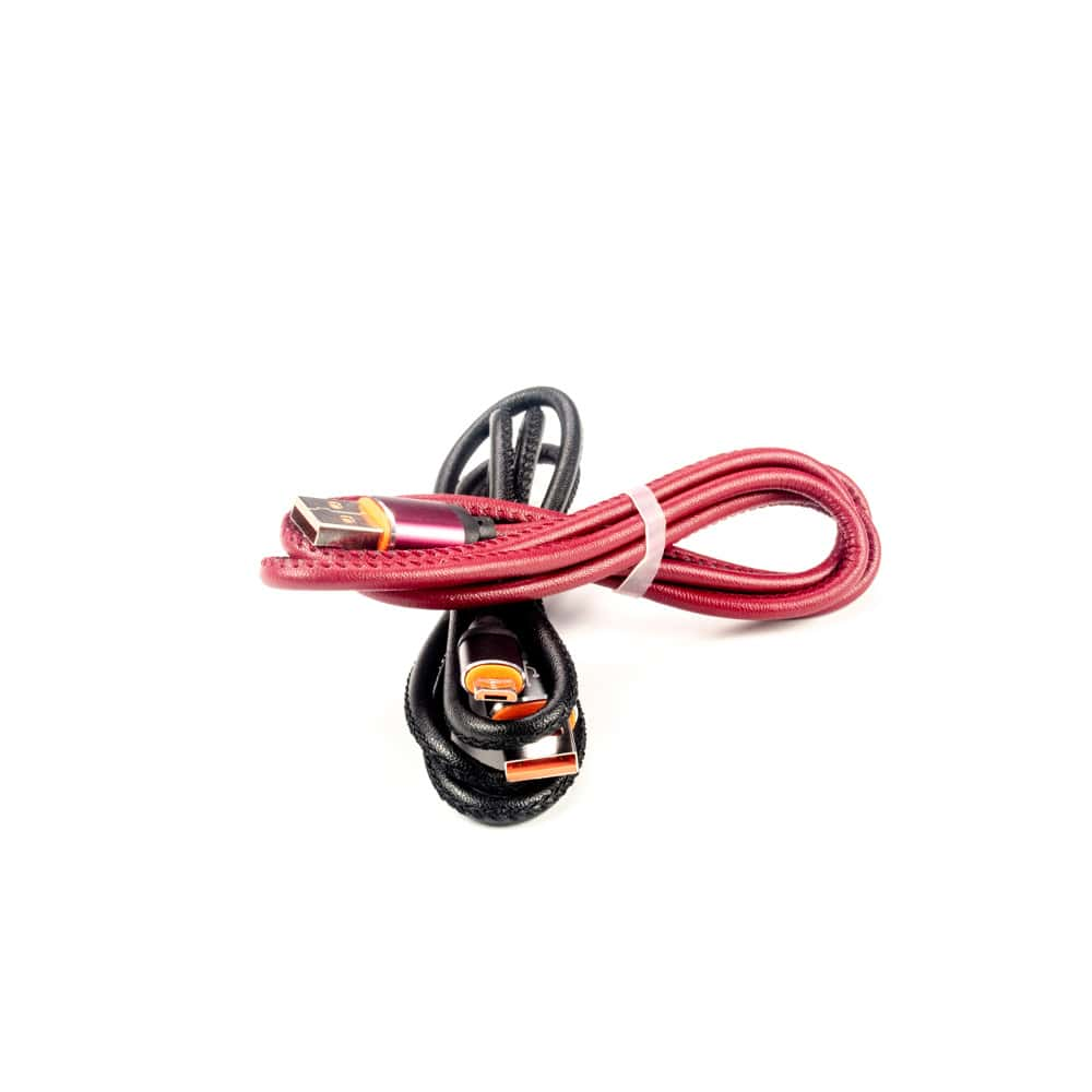 کابل شارژ اندروید Micro USB چرمی