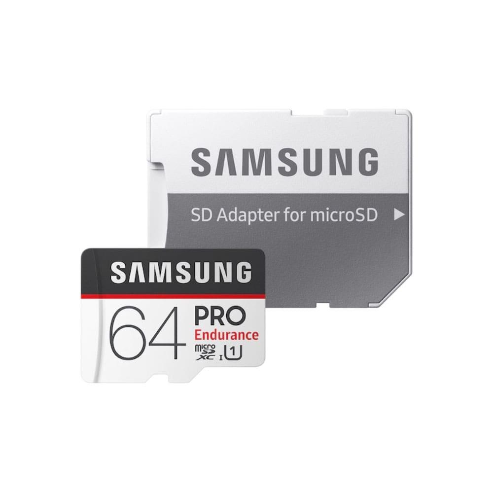 کارت حافظه microSDXC سامسونگ مدل  Pro Endurance کلاس 10 استاندارد UHS-I  سرعت 100MBps ظرفیت 64 گیگابایت همراه با آداپتور SD