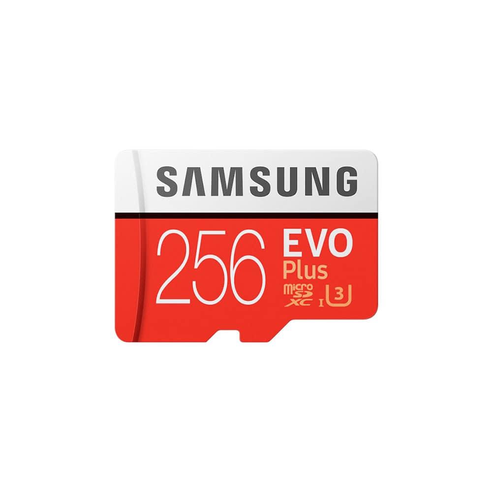 کارت حافظه microSDXC سامسونگ مدل Evo Plus کلاس 10 استاندارد UHS-I U3 سرعت 100MBps ظرفیت 256 گیگابایت  همراه با آداپتور SD