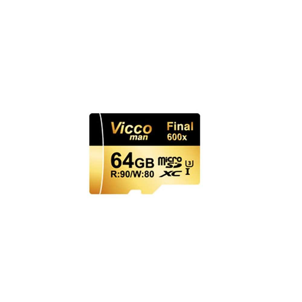 کارت حافظه microSDXC ویکو من مدل Final 600X کلاس 10 استاندارد UHS-I U3 سرعت 90MBps ظرفیت 64 گیگابایت همراه با آداپتور SD