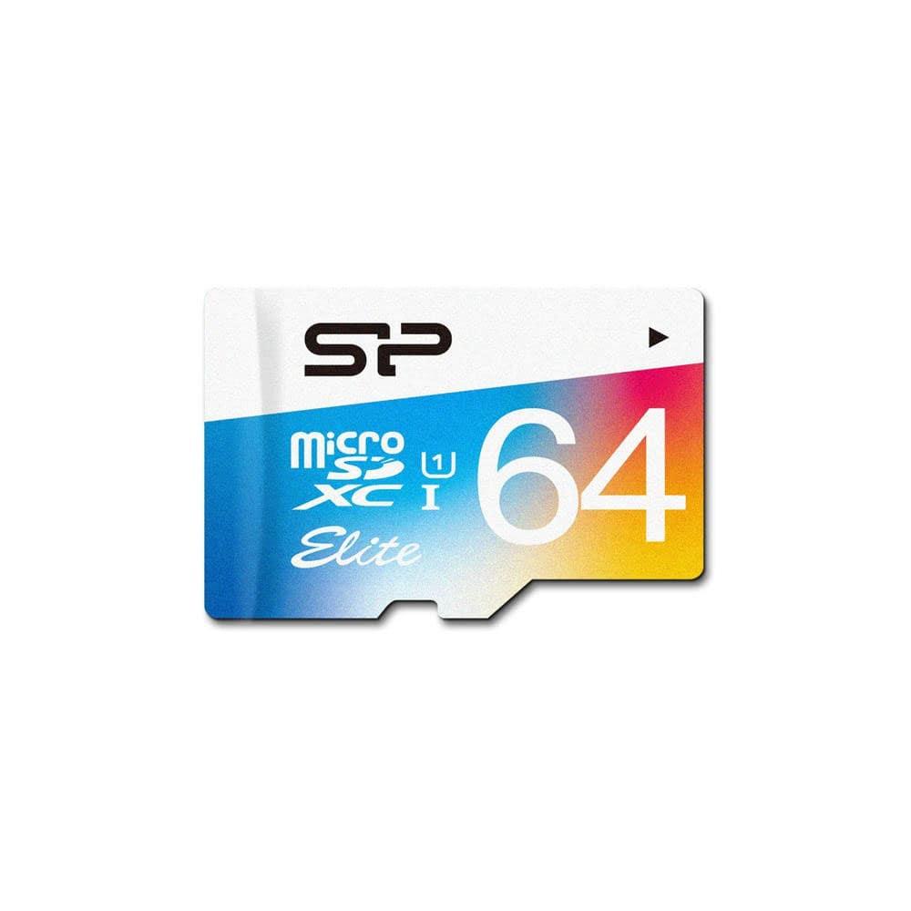 کارت حافظه microSDXC سیلیکون پاور مدل Elite کلاس 10 استاندارد UHS-I U1 سرعت 85MBps ظرفیت 64 گیگابایت همراه با آداپتور SD