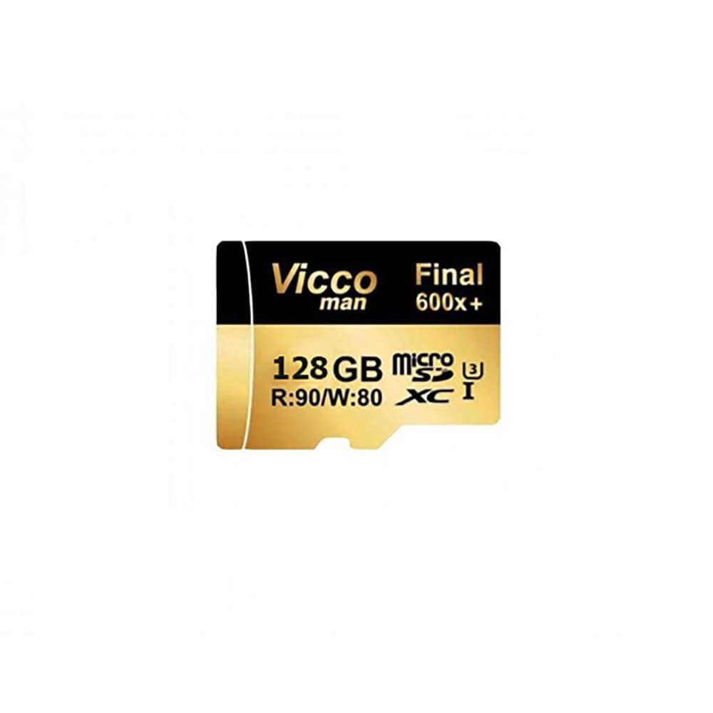 کارت حافظه microSDHC ویکو من مدل Final 600x کلاس 10 استاندارد UHS-I U3 سرعت 90MBps ظرفیت 128 گیگابایت