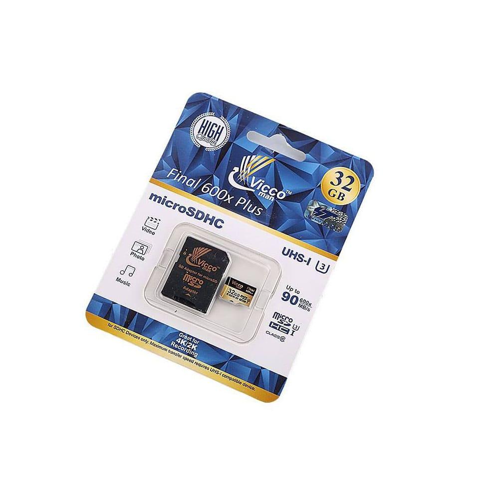 کارت حافظه microSDHC ویکو من مدل Extre 600X کلاس 10 استاندارد UHS-I U3 سرعت 90MBps ظرفیت 32گیگابایت همراه با آداپتور SD