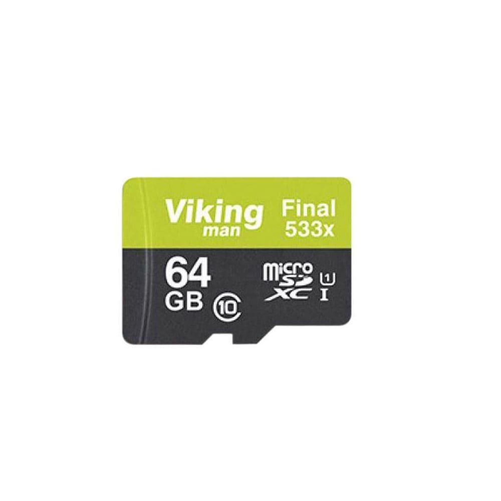کارت حافظه microSDXC ویکینگ مدل VI64GM کلاس 10 استاندارد UHS-I سرعت 80MBps ظرفیت 64GB همراه با آداپتور SD