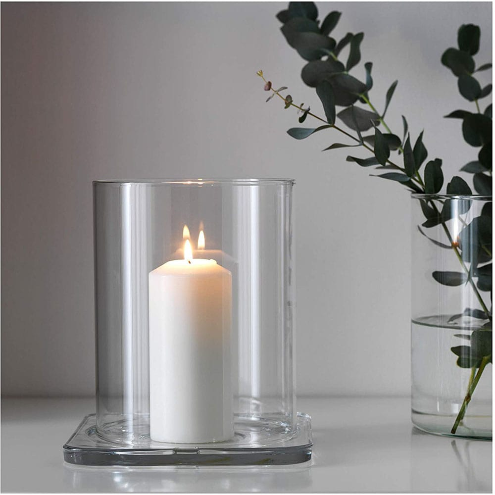 قیمت بشقاب شمع مربع ایکیا  GLASIG