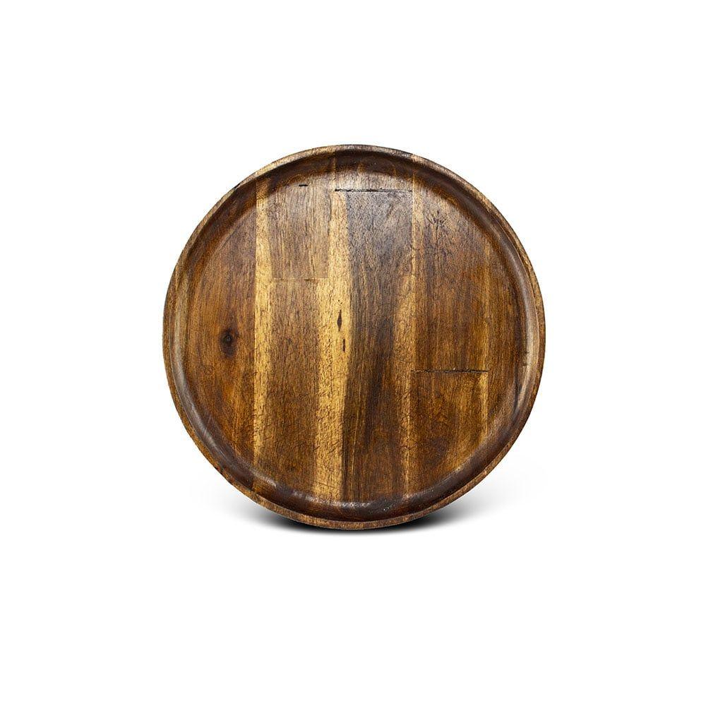 فروش بشقاب گرد چوبی استن لایف
