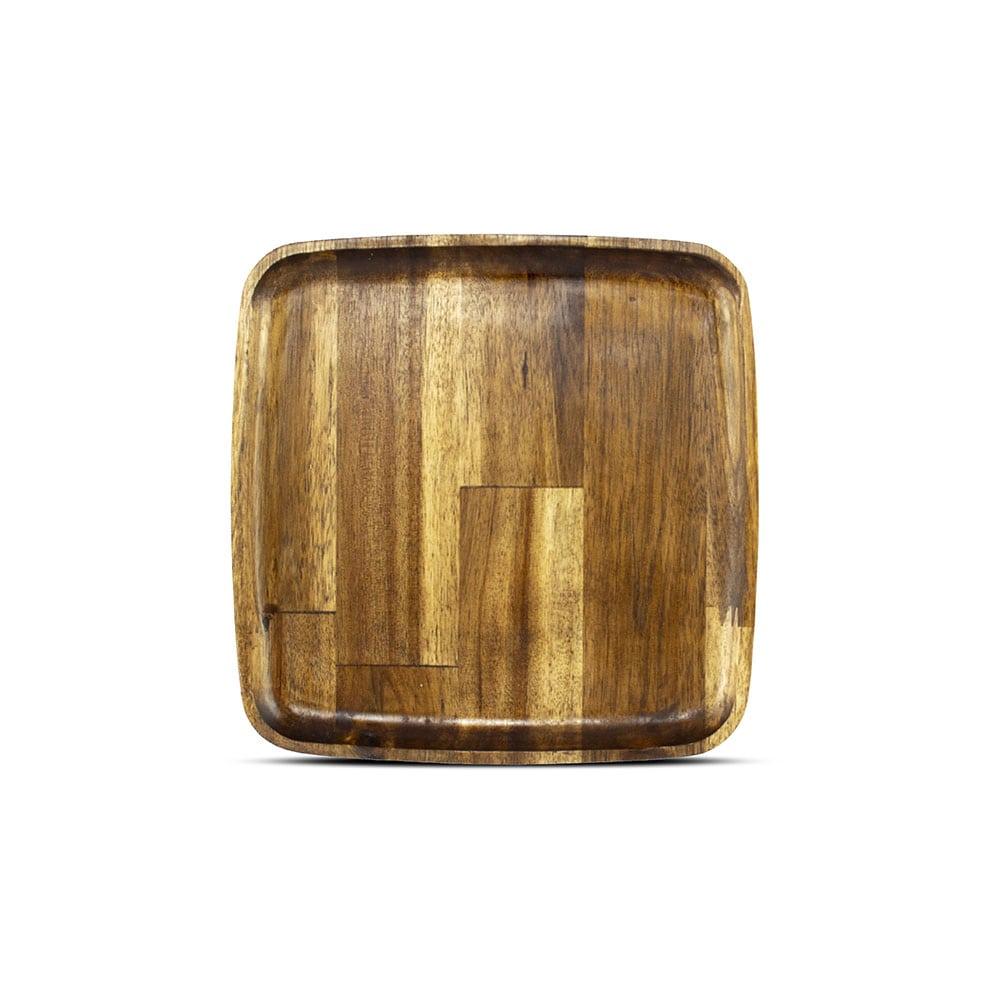 بشقاب مربع چوبی استن لایف سایز 15