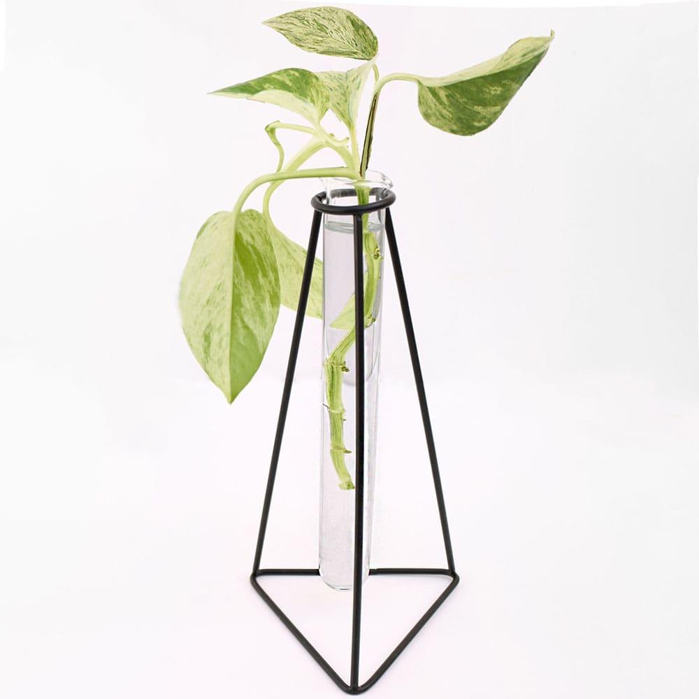 قیمت گلدان رومیزی فلزی ENZO طرح مثلث