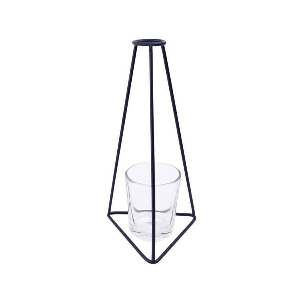 فروش گلدان فلزی لیوان دار ENZO طرح مثلث