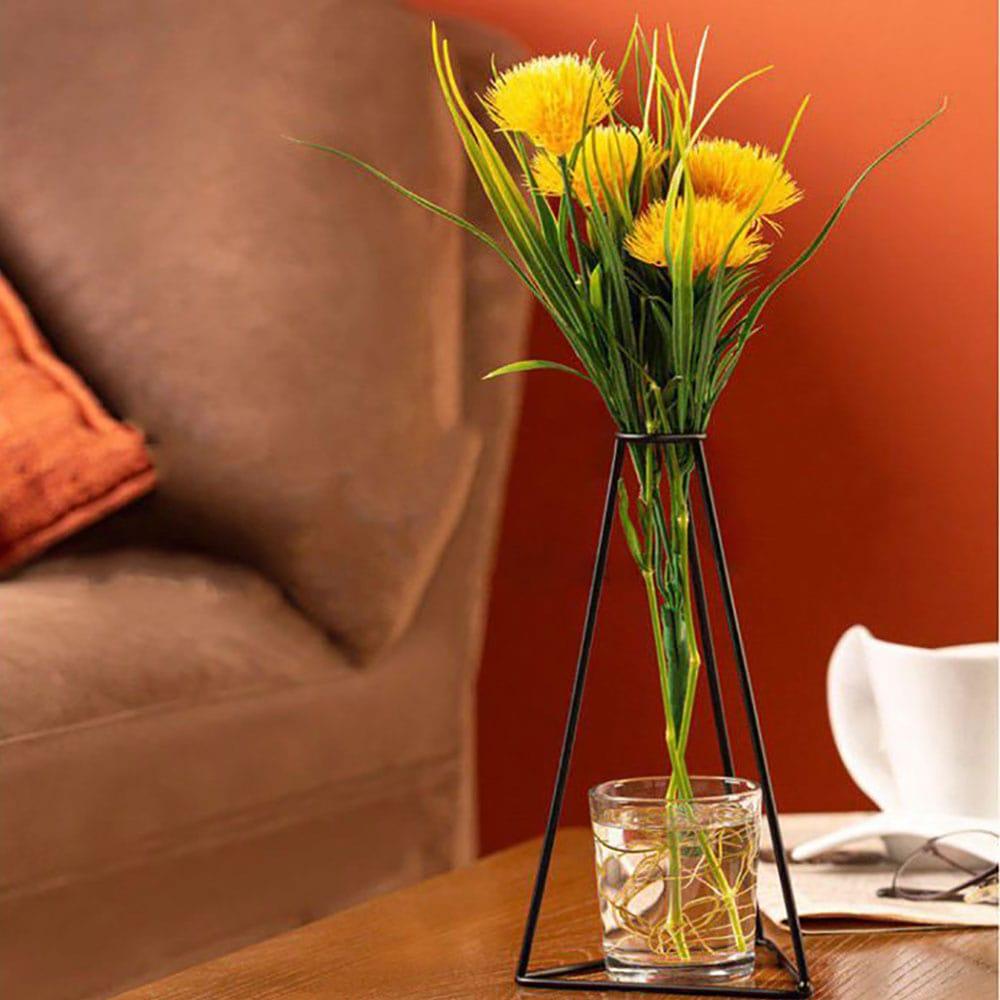 خرید گلدان فلزی لیوان دار ENZO طرح مثلث