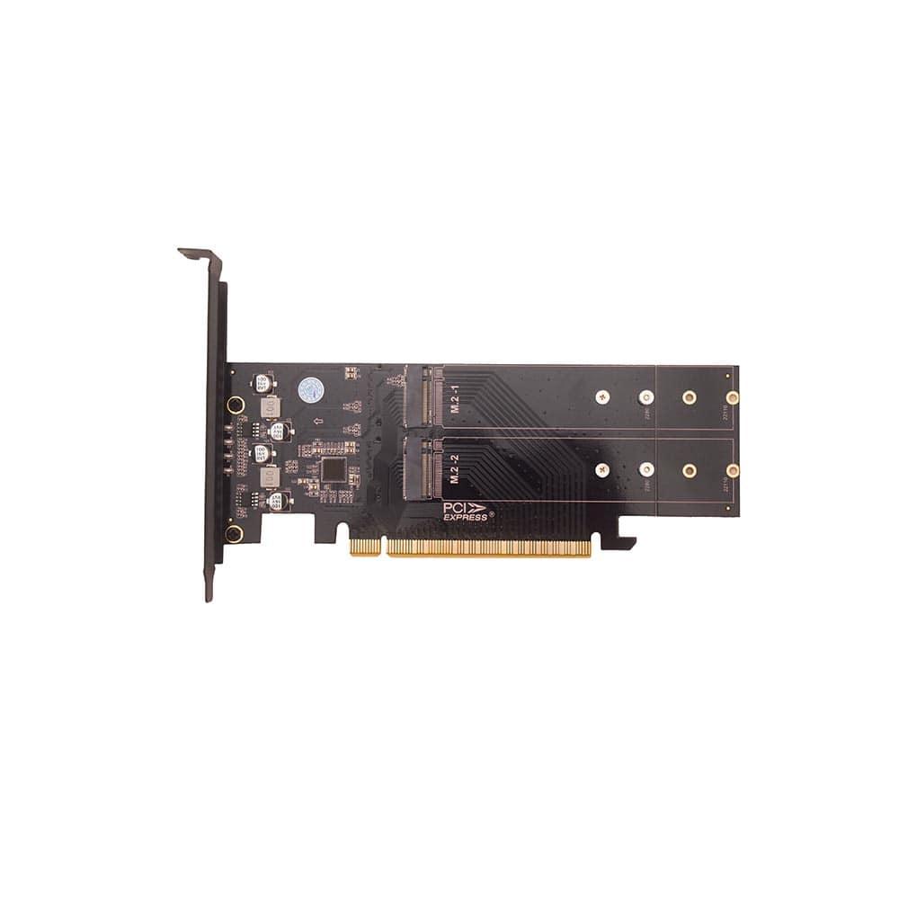فروش کارت تبدیل M2-SSD NVME به PCI-E X16 هایسنسر